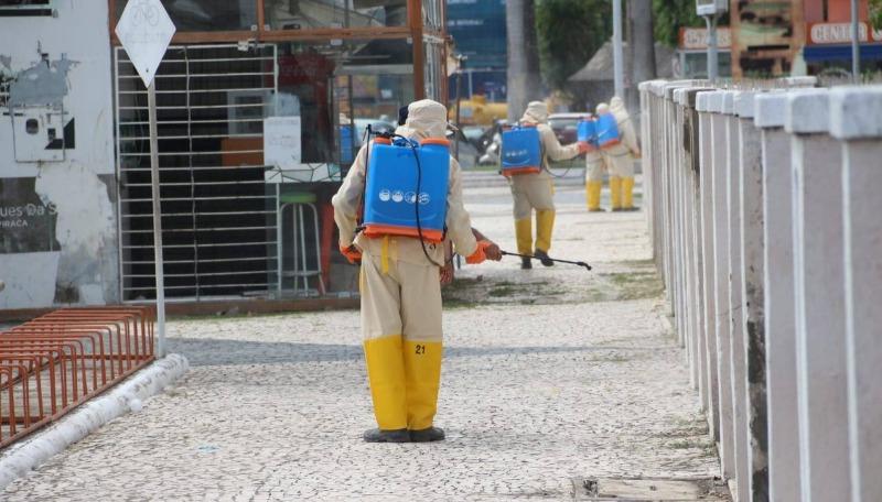 Prefeitura de Arapiraca inicia processo de higienização da cidade contra o coronavírus